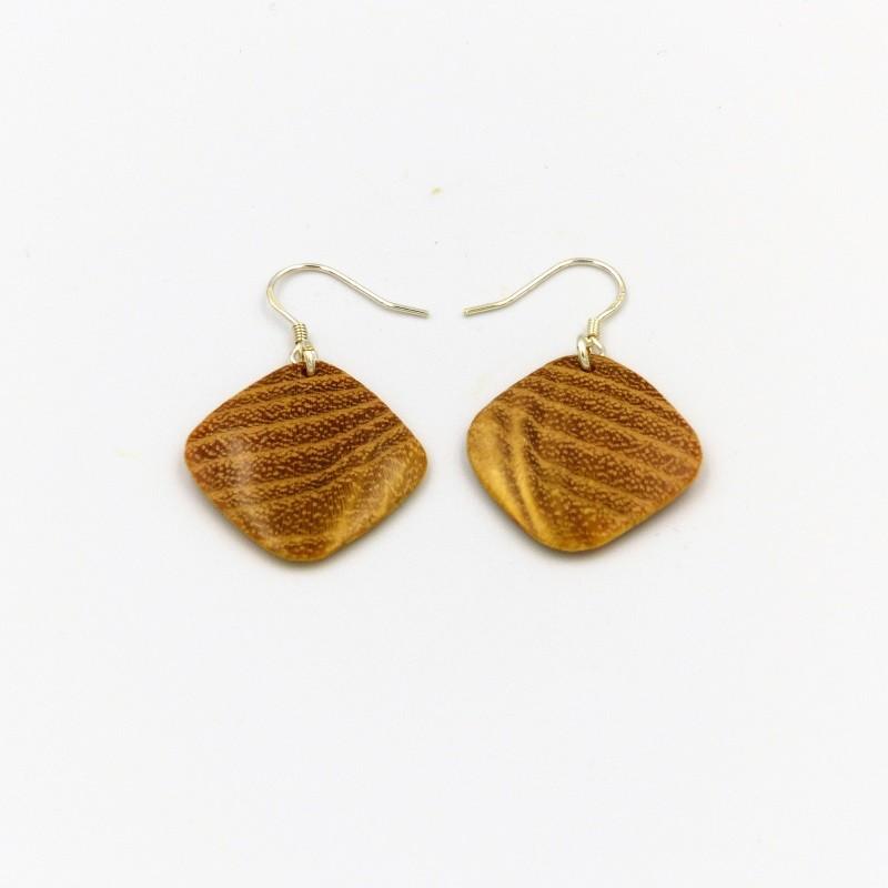 Boucles d'oreilles en bois de robinier