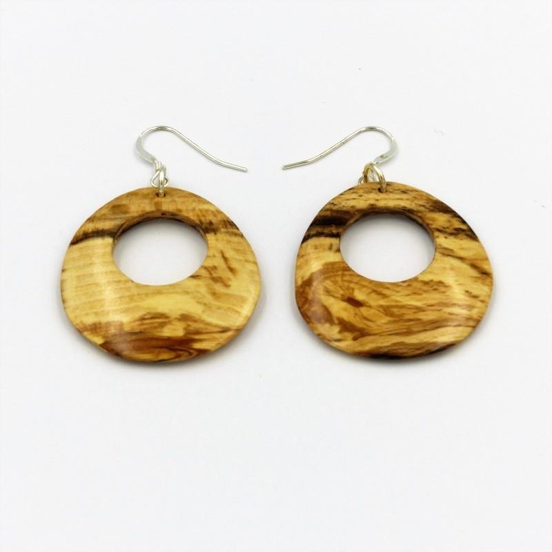 Boucles d'oreilles en bois de hêtre